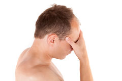 Headache. royalty free stock images
