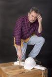 Headaches on the job stock photos