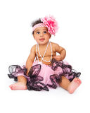 Headband e tutu desgastando do bebê Fotos de Stock Royalty Free