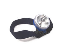 Headband is flashlight. Isolated over white, will work hands free Royalty Free Stock Photos