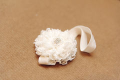 Headband with Lace Decoration Royalty Free Stock Images