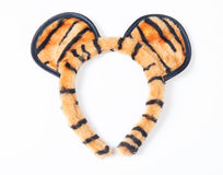 Headband. Tiger style isolated on white background Stock Photos