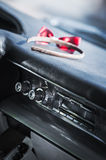 Headbands on the car console Royalty Free Stock Photos