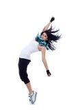 headbanging现代样式的舞蹈演员 图库摄影