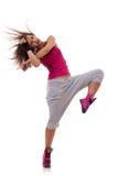 舞蹈headbanging的移动 免版税库存图片