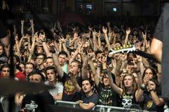 Headbanging crowd at a rock concert Royalty Free Stock Photos
