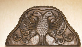 Headboard di legno antico fotografia stock libera da diritti