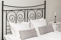 Headboard with pillows Stock Images