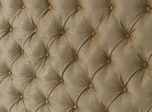 Headboards. Quilted headboard.Buttons on the quilted fabric Stock Photo