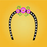 Headbrand flower and pearl Stock Image
