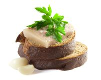 Headcheese with brown bread Stock Photo