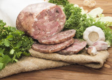 Headcheese pork Royalty Free Stock Images