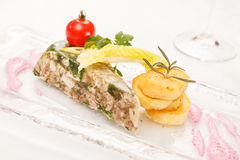 Headcheese with potatoes Stock Photography