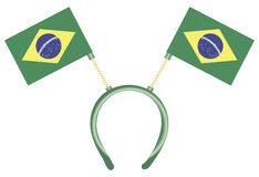 Headdress with flags Brazil Royalty Free Stock Photos