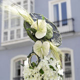 Headdress of flowers Royalty Free Stock Images