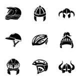 Headdress icons set, simple style. Headdress icons set. Simple set of 9 headdress vector icons for web isolated on white background Royalty Free Stock Photo