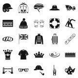 Headdress icons set, simple style. Headdress icons set. Simple set of 25 headdress vector icons for web isolated on white background Stock Image
