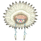 Headdress of indian chief Royalty Free Stock Photo