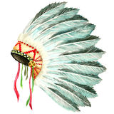 Headdress of indian chief Stock Image