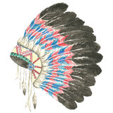 Headdress of indian chief Stock Photos