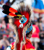Native American Headdress. Headdress of Native American at Indian Powwow. Beautiful colors and design stock photography