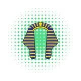Headdress of Pharaoh icon, comics style Stock Images