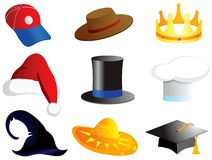 Headdressing icon set Stock Images