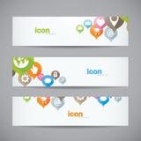 Heade abstrait créatif de bannière d'icône de Web de fond Photos libres de droits