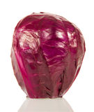 Headed out red cabbage closeup  on white. Royalty Free Stock Photography