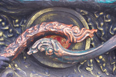 Headed serpent statue. Headed serpent statue Buddhist ornament Royalty Free Stock Photography