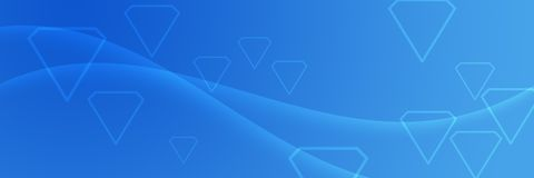 Header Background with Diamond on Blue Gradient. For websites, webpages, posters, banners, presentations, letter brochures vector illustration
