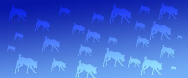 Header Background Pet Dogs Pattern on Blue Gradient Background. For websites, web pages, banners , posters , presentations, flyers, cards , signboards vector illustration