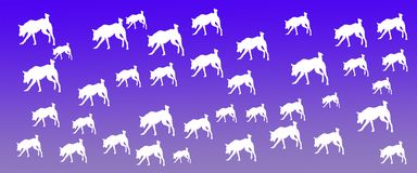 Header Background Pet Dogs Pattern on Blue Gradient Background. For websites, web pages, banners , posters , presentations, flyers, cards , signboards royalty free illustration