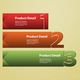 Header or Banner Design - Numbers Royalty Free Stock Image
