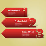 Header or Banner Design - Numbers. Abstract Red Numbered Banners in Freely Scalable and Editable Vector Format royalty free illustration
