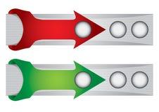 Header or banner design set Stock Photos