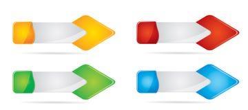 Header or banner design set Stock Image