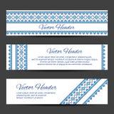 Header or banner design template Stock Photos