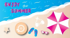 Summer vacation beach header or banner Stock Images