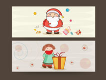 Header or banner for Merry Christmas celebrations. Stock Photo