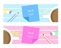 Header banner text box stock illustration