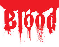 Header blood dribble text Royalty Free Stock Photo