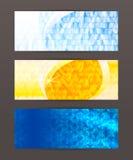 Header design element mesh set horizontal banner Stock Photos