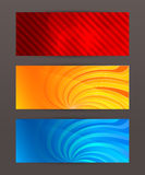 Header design element set horizontal banner Royalty Free Stock Image