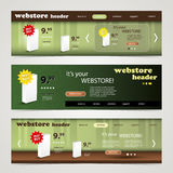 Header Design Set Royalty Free Stock Images