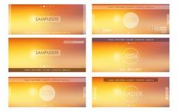 Header design for web site Stock Images