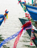 Header of fishing boats Royalty Free Stock Image