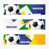 Header of football design. Vector football headers set design Stock Photography