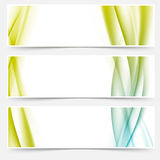 Header footer web modern satin line collection Stock Images