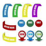 header,label,tag or banner Royalty Free Stock Photos